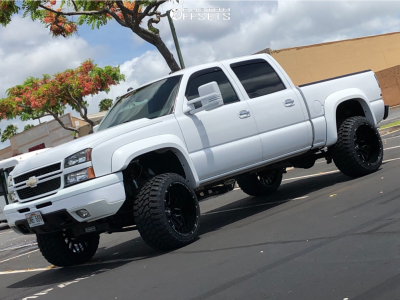 "2004 Chevrolet Silverado 1500 - 22x14 -76mm - Axe Offroad Ax1.0 - Suspension Lift 6"" - 33"" x 14.5"""