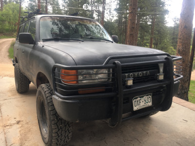 "1991 Toyota Land Cruiser - 16x8 0mm - Steel Off-Road Unknown - Suspension Lift 2.5"" - 285/75R16"