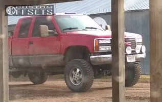 """1996 GMC K1500 - 16x8 31mm - Spaced Out Stockers Spaced Out Stockers - Suspension Lift 6"""" - 33"""" x 12.5"""""""