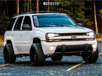"""2008 Chevrolet Trailblazer - 20x12 -44mm - Moto Metal Mo970 - Suspension Lift 3"""" - 275/50R20"""