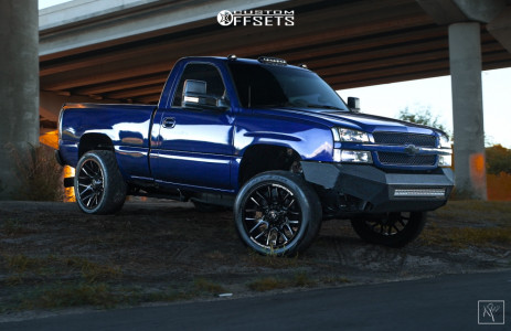 "2004 Chevrolet Silverado 2500 - 22x10 -25mm - Dropstars 654mb - Suspension Lift 2.5"" - 265/40R22"