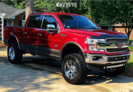 """2018 Ford F-150 - 20x10 -19mm - Gear Off-Road Big Block - Suspension Lift 6"""" - 35"""" x 12.5"""""""