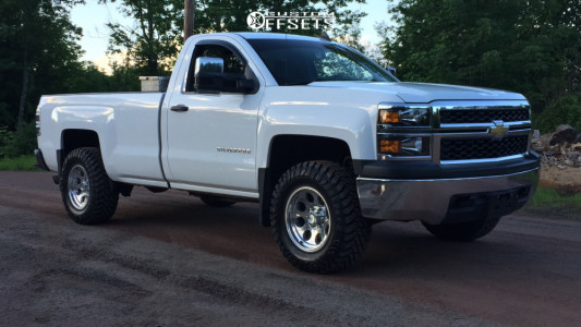 2015 Chevrolet Silverado 1500 - 17x9 -6mm - Pro Comp Series 69 - Leveling Kit - 285/70R17