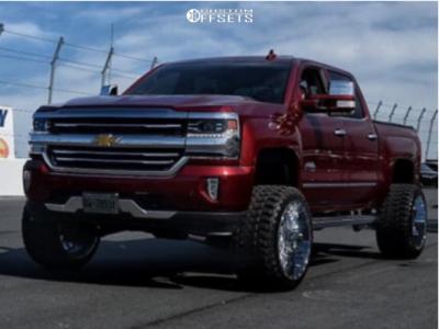 "2017 Chevrolet Silverado 1500 - 22x14 -76mm - Tis 544v - Suspension Lift 6"" - 33"" x 14.5"""
