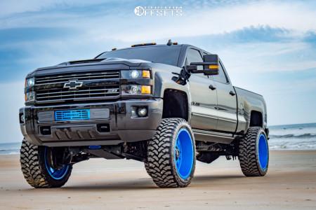 "2018 Chevrolet Silverado 2500 HD - 24x12 -44mm - RBP 87r - Suspension Lift 6"" - 37"" x 13.5"""