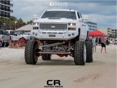 """2015 Chevrolet Silverado 2500 HD - 28x16 -101mm - RBP Forged Glock - Lifted >12"""" - 42"""" x 15.5"""""""