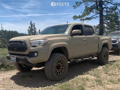 "2018 Toyota Tacoma - 18x9 -12mm - Method Nv - Suspension Lift 3"" - 275/65R18"