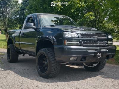 "2005 Chevrolet Silverado 1500 - 20x12 -44mm - Fuel Octane - Body Lift 3"" - 33"" x 12.5"""