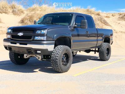 """2005 Chevrolet Silverado 1500 - 17x9 -12mm - Tis 535mb - Suspension Lift 7"""" - 35"""" x 12.5"""""""