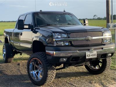 "2003 Chevrolet Silverado 2500 - 22x12 -44mm - Gear Off-Road Big Block - Suspension Lift 6"" - 35"" x 12.5"""