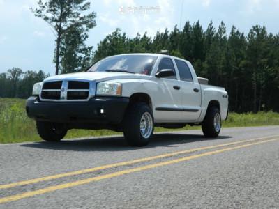 2005 Dodge Dakota - 15x10 -38mm - Alloy Ion 171 - Leveling Kit - 235/70R15