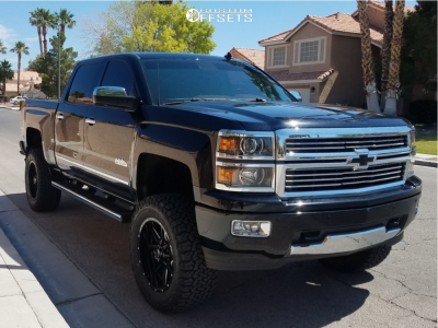 "2014 Chevrolet Silverado 1500 - 20x9.5 0mm - Pro Comp Series 42 - Suspension Lift 6"" - 35"" x 12.5"""