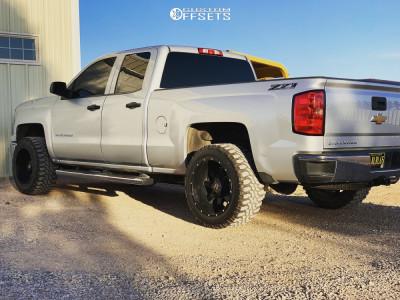 "2014 Chevrolet Silverado 1500 - 20x12 -44mm - Off Road Monster M08 - Leveling Kit - 33"" x 12.5"""