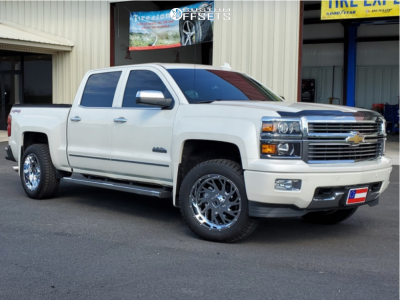 2015 Chevrolet Silverado 1500 - 20x10 -19mm - Xtreme Force Xf8 - Leveling Kit - 285/55R20