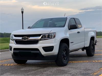 2018 Chevrolet Colorado - 17x8 0mm - Moto Metal Mo970 - Leveling Kit - 255/70R17