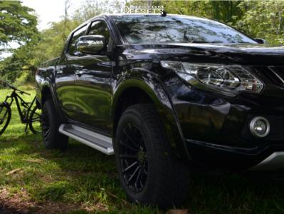 2011 Mitsubishi L200 - 18x9.5 12mm - Black Rhino Rotorua - Stock Suspension - 265/60R18