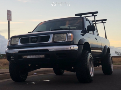 """2000 Nissan Frontier - 15x10 -46mm - Alcoa Other - Suspension Lift 2.5"""" - 235/75R15"""