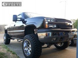 "2003 Chevrolet Silverado 1500 - 20x12 -44mm - Fuel Maverick - Lifted >9"" - 35"" x 12.5"""