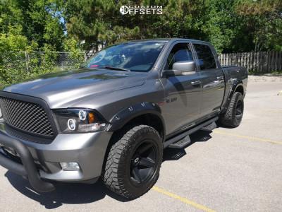 2010 Dodge Ram 1500 - 20x11.5 -44mm - Vision Empire - Leveling Kit - 305/55R20