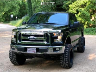 """2015 Ford F-150 - 20x12 -44mm - DWG Offroad Dw14 - Suspension Lift 6"""" - 35"""" x 12.5"""""""