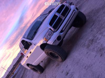 "2004 Dodge Ram 1500 - 17x8.5 0mm - Method Double Standard - Suspension Lift 5.5"" - 37"" x 12.5"""