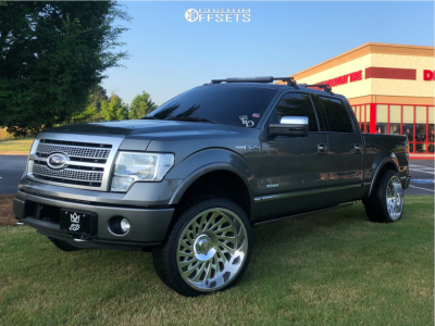 2012 Ford F-150 - 24x12 -51mm - Cali Offroad Switchback - Leveling Kit - 305/35R24