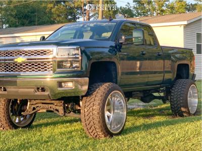 """2015 Chevrolet Silverado 1500 - 26x16 -101mm - American Force Aka Ss - Suspension Lift 12"""" - 38"""" x 15.5"""""""