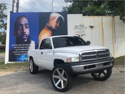 "2000 Dodge Ram 1500 - 24x10 20mm - Dub Baller - Suspension Lift 4"" - 35"" x 12.5"""