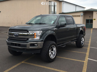 "2018 Ford F-150 - 20x12 -44mm - Center Line Lt3 - Suspension Lift 6"" - 35"" x 12.5"""