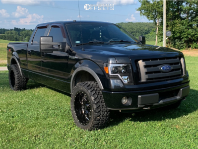 "2009 Ford F-150 - 20x10 -25mm - Ultra Hunter - Leveling Kit - 33"" x 12.5"""