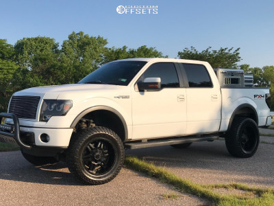 "2011 Ford F-150 - 20x10 -19mm - TIS 538b - Suspension Lift 6"" - 35"" x 12.5"""
