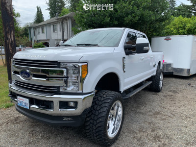 "2017 Ford F-350 Super Duty - 24x12 -44mm - Moto Metal Mo400 - Suspension Lift 6"" - 37"" x 13.5"""