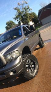 "2003 Dodge Ram 1500 - 18x9.5 12mm - Red Dirt Road Rd01 - Suspension Lift 7"" - 35"" x 12.5"""