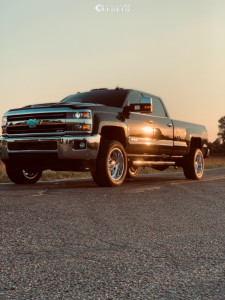 2019 Chevrolet Silverado 3500 HD - 20x10 -25mm - American Force Lucky Ss - Leveling Kit - 205/20R20