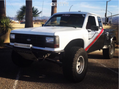 """1991 Ford Ranger - 15x8 -25mm - American Racing Outlaw Ii - Suspension Lift 5"""" - 33"""" x 12.5"""""""