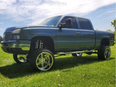 "2006 Chevrolet Silverado 1500 - 22x14 -76mm - Weld XT Forged Cheyenne - Suspension Lift 9.5"" - 33"" x 12.5"""