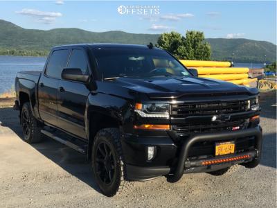 "2017 Chevrolet Silverado 1500 - 20x8.5 10mm - KMC Km651 - Suspension Lift 3.5"" - 275/65R20"