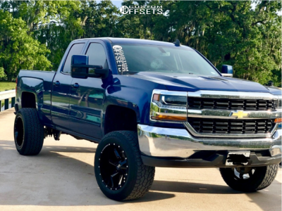 "2017 Chevrolet Silverado 1500 HD - 20x12 -44mm - Hardrock Hardcore - Suspension Lift 5"" - 305/55R20"