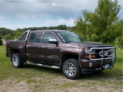 "2016 Chevrolet Silverado 1500 - 18x10 -24mm - XD Riot - Suspension Lift 2.5"" - 285/60R18"