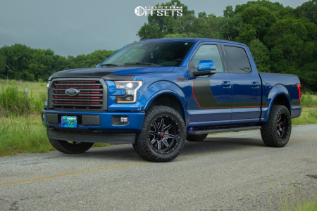 2017 Ford F-150 - 20x10 -24mm - Havok H112 - Leveling Kit - 285/55R20