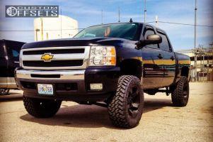 "2011 Chevrolet Silverado 1500 - 20x9 -12mm - XD Rockstar II - Suspension Lift 6.5"" - 35"" x 12.5"""