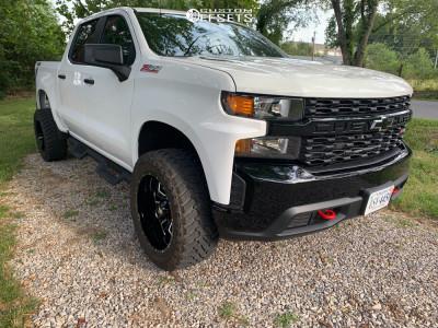 "2019 Chevrolet Silverado 1500 - 20x10 -24mm - Havok H109 - Suspension Lift 2.5"" - 33"" x 12.5"""