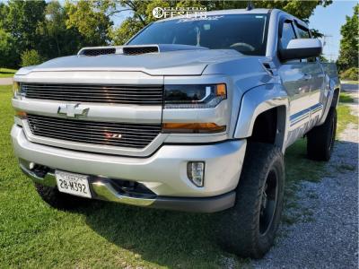 "2016 Chevrolet Silverado 1500 HD - 20x9 0mm - Alloy Ion Style 181 - Suspension Lift 6"" - 305/55R20"
