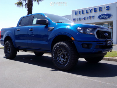 2019 Ford Ranger - 17x9 20mm - Fuel Hostage Iii - Leveling Kit - 285/70R17