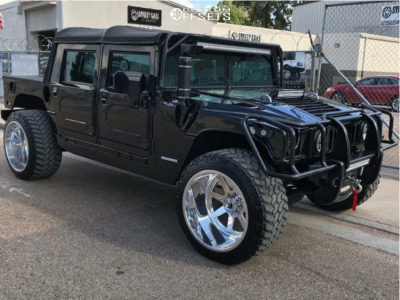 2001 AM General Hummer - 24x16 -101mm - Fuel Forged Ff09 - Leveling Kit - 375/40R24