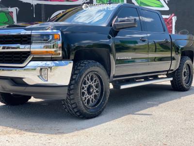 "2018 Chevrolet Silverado 1500 - 20x9 10mm - Vision Rocker - Leveling Kit - 35"" x 12.5"""