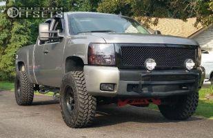 "2008 Chevrolet Silverado 1500 - 17x9 -12mm - Mickey Thompson Classic III - Suspension Lift 6"" - 35"" x 12.5"""