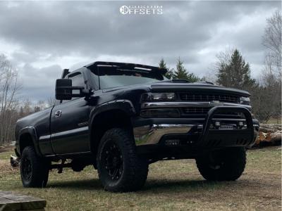 "2000 Chevrolet Silverado 1500 - 16x8 10mm - Tuff T01 - Suspension Lift 2.5"" - 305/70R16"