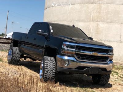 """2018 Chevrolet Silverado 1500 - 22x14 -76mm - Cali Offroad Americana - Suspension Lift 7"""" - 33"""" x 14.5"""""""