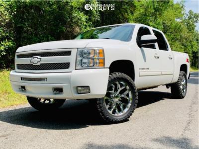 "2011 Chevrolet Silverado 1500 - 20x9 24mm - OE Performance 176 - Suspension Lift 2.5"" - 33"" x 12.5"""